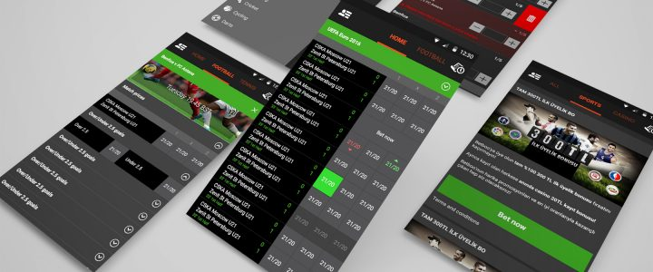 Sportsbook Android app design